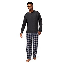 Maine New England - Big and tall grey waffle texture pyjama set