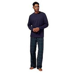 Maine New England - Big and tall green checked pyjama set