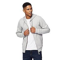 Red Herring - Big and tall grey zip through hoodie