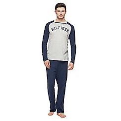 Tommy Hilfiger - Navy jersey raglan pyjama set