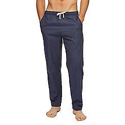 Tommy Hilfiger - Navy and grey colour block pyjama bottoms