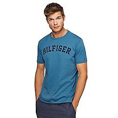 Tommy Hilfiger - Blue slogan print t-shirt