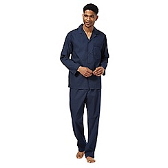 Maine New England - Navy square dot cotton pyjamas set
