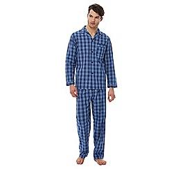 Maine New England - Big and tall blue checked pyjama set