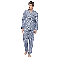Hammond & Co. by Patrick Grant - Navy diamond dot print pyjama set