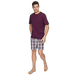 Maine New England - Purple checked pyjama set