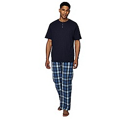 Maine New England - Navy cotton short sleeve pyjama set