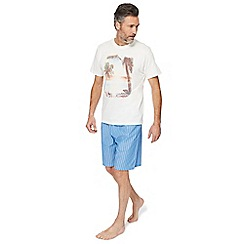 Mantaray - Natural surf print loungewear set