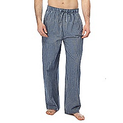 Mantaray - Big and tall 2 pack blue checked pyjama bottoms