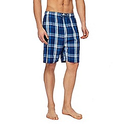 Mantaray - Pack of two navy checked lounge shorts