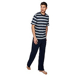 Maine New England - Navy striped print pyjama set