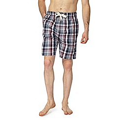 RJR.John Rocha - Navy and red checked pyjama shorts
