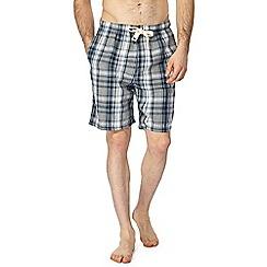 RJR.John Rocha - Big and tall grey checked pyjama shorts
