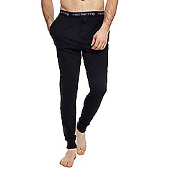Red Herring - Big and tall black jersey cuffed pyjama bottoms