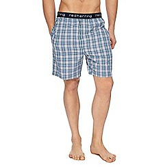 Red Herring - Aqua checked pyjama shorts