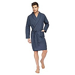 Maine New England - Navy lightweight foulard print dressing gown