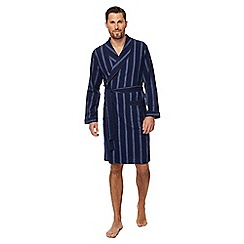 Maine New England - Big and tall navy striped dressing gown