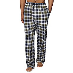 Hammond & Co. by Patrick Grant - Khaki woven check pyjama bottoms