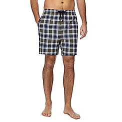 Hammond & Co. by Patrick Grant - Big and tall green checked cotton pyjama shorts
