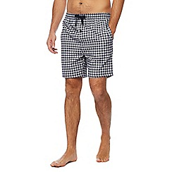 Hammond & Co. by Patrick Grant - Big and tall navy checked pyjama shorts