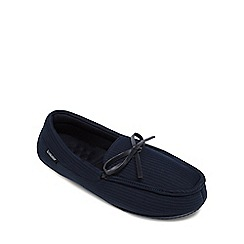 Totes - Navy memory foam moccasin slippers