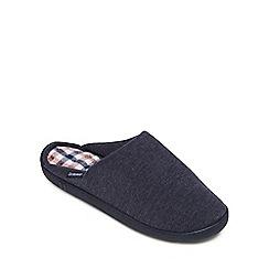 Totes - Navy mule memory foam slippers