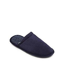 Totes - Navy memory foam mule slippers
