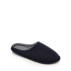Maine New England - Navy textured mule slippers