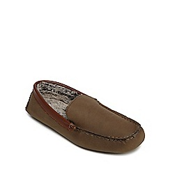 RJR.John Rocha - Tan moccasin slippers