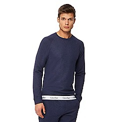 Calvin Klein - Navy logo hem sweatshirt