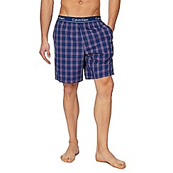 Calvin Klein - Navy checked pyjama shorts