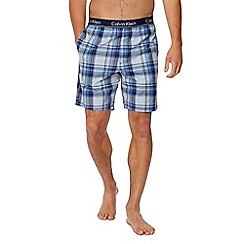 Calvin Klein - Blue checked pyjama shorts