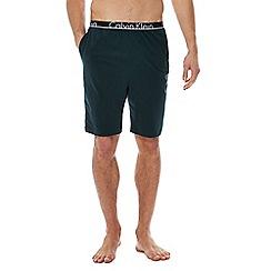Calvin Klein - Green 'ID' jersey shorts