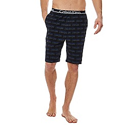 Calvin Klein - Black 'ID' logo jersey shorts