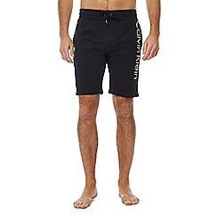 Calvin Klein - Black logo print cotton loungewear shorts
