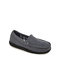 Maine New England - Grey jersey moccasin slippers