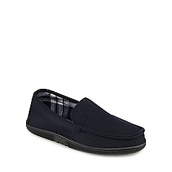 Maine New England - Navy quilted moccasin slippers