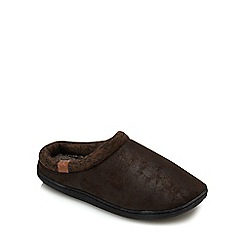 RJR.John Rocha - Dark brown mule slippers