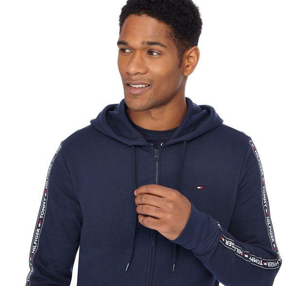 Navy Hilfiger tape Tommy loungewear jacket logo qYUSP