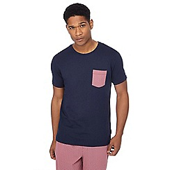Tommy Hilfiger - Navy printed pocket loungewear top