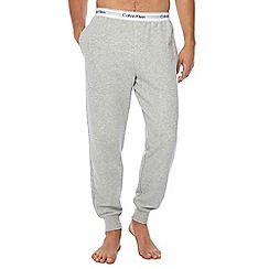 Calvin Klein - Grey logo print jogging bottoms