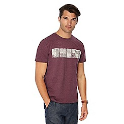 RJR.John Rocha - Purple tile print tailored fit t-shirt