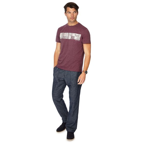 RJR tailored tile print Purple fit John t shirt Rocha rPSr7