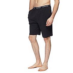 Calvin Klein - Black logo print jersey shorts