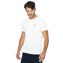 Tommy Hilfiger - White logo embroidered t-shirt