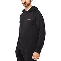Calvin Klein - Black logo print hoodie