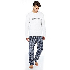 Calvin Klein - Navy check print cotton pyjama set