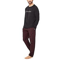 Calvin Klein - Black check print pyjama set