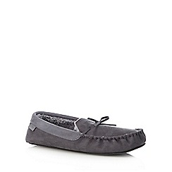 Totes - Grey moccasin slippers