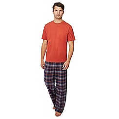 Lounge & Sleep - Orange checked pyjama set